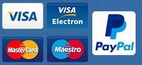 Visa, Visa Electron, Mastercard, Maestro
