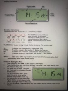 Bell Timer Manual 3