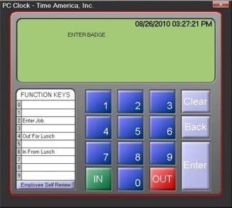 PC Clock Time Attendance Software no Hardware required