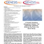 Genesis Pro Software Spec Sheet
