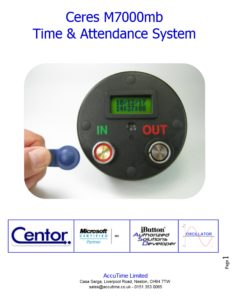 Time and Attendance System battery operated