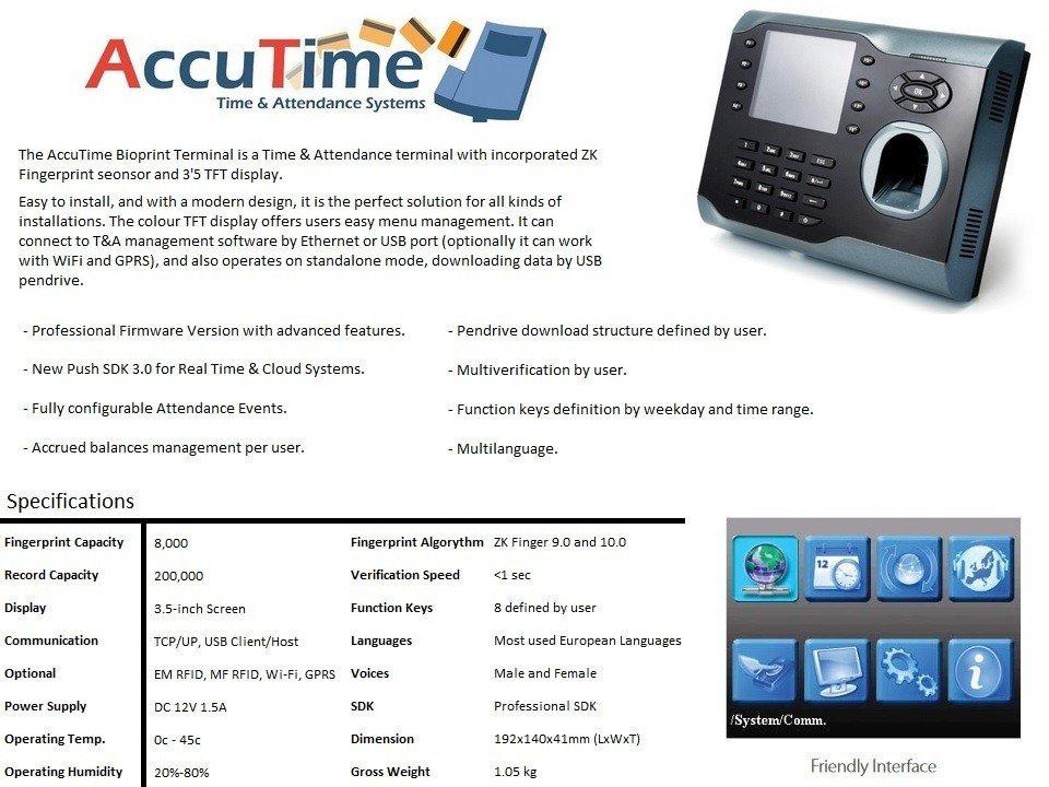 Fingerprint Clock Machine