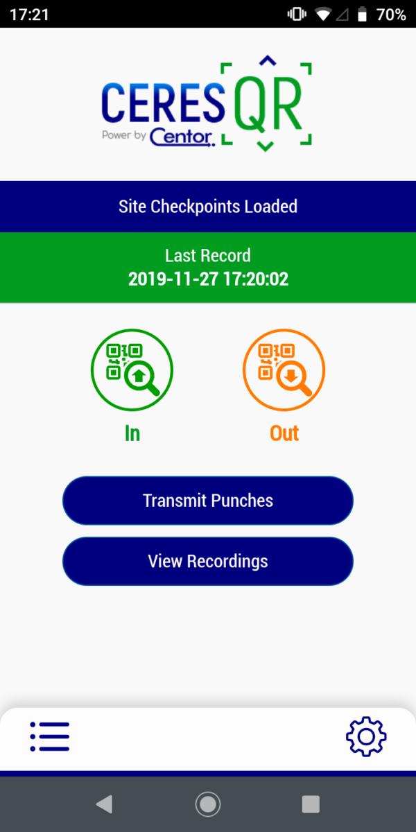 Mobile Clocking in App